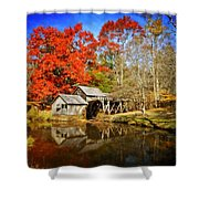 Down By The Old Mill Stream  Shower Curtain by Lynn Bauer