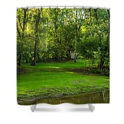 Down By The River Shower Curtain