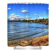 Lake District In Great Britain Shower Curtain