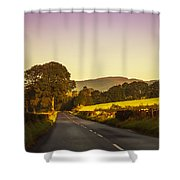 Down By The Road. Scotland Shower Curtain