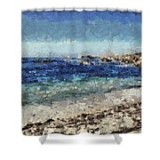 Down By The Sea 1 Shower Curtain