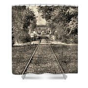Down By The Tracks - Aged Shower Curtain