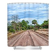 Down Chisolm Island Road Shower Curtain