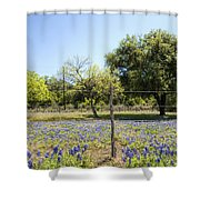 Down Country Bluebonnets Shower Curtain