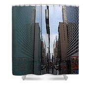 Down E 43rd Street N Y C Shower Curtain