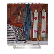 Down East Equipment  Shower Curtain
