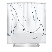 Down For It  Shower Curtain