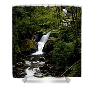 Down From The Hills Shower Curtain