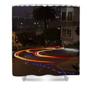 Down Lombard Shower Curtain