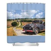Down On The Farm - International Harvester S-100 Shower Curtain