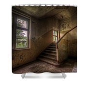 Down Stairs Shower Curtain