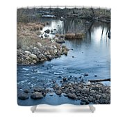Down Stream Shower Curtain