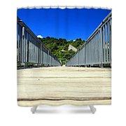 Down The Bridge Shower Curtain