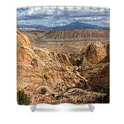 Down The Burr Trail Shower Curtain