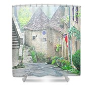 Down The Lane In St Cirq Lapopie Shower Curtain
