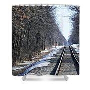 Down The Rails Shower Curtain