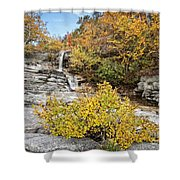 Down The Rocks Shower Curtain