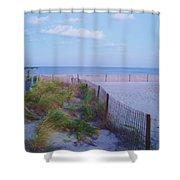 Down The Shore At Belmar Nj Shower Curtain