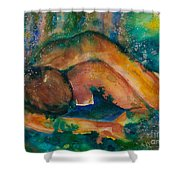 Down To Earth Up To Me Shower Curtain