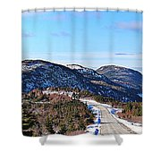 Down To The Sea - Oceanview - Hillview Shower Curtain