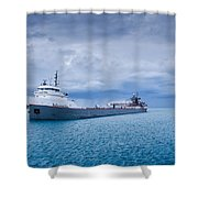 Downbound Shower Curtain