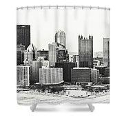 Cold Winter Day In Pittsburgh Pennsylvania Shower Curtain