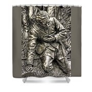 Downed.  State Of Delaware Monument Detail-d Gettysburg Autumn Mid-day. Shower Curtain