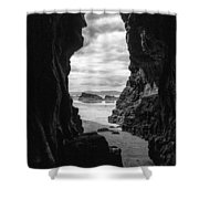 Downhill Cave Shower Curtain
