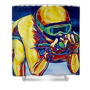 Downhill Racer Shower Curtain