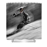 Downhill Skier  Shower Curtain