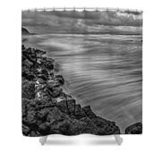 Downhill Waves Shower Curtain