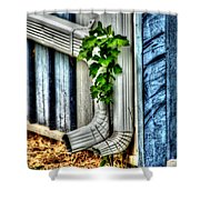 Downspout Shower Curtain by Doc Braham