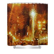 Downtown 6th St Seattle In Dec Shower Curtain