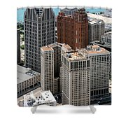 Downtown Aerial Of Detroit Michigan Shower Curtain