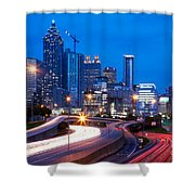 Downtown Atlanta At Dusk Shower Curtain
