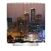 Downtown Atlanta Skyline At Dusk Shower Curtain