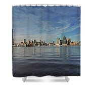 Downtown Baltimore And Harbor East Skylines Shower Curtain
