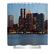 Downtown Boston Skyline Shower Curtain