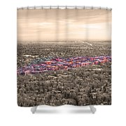 Boulder Colorado  Twenty-five Square Miles Surrounded By Reality Shower Curtain