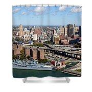Downtown Buffalo Skyline Shower Curtain
