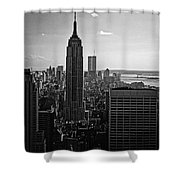 Downtown Bw Shower Curtain