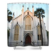 Downtown Charleston Church Shower Curtain
