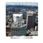 Downtown Cincinnati Form The Top Of Karew Tower 3 Shower Curtain
