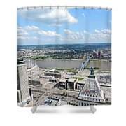 Downtown Cincinnati Form The Top Of Karew Tower 5 Shower Curtain