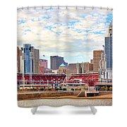 Downtown Cincinnati 9885 Shower Curtain