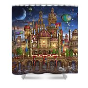 Downtown Shower Curtain by Ciro Marchetti