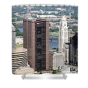 Downtown Columbus Shower Curtain