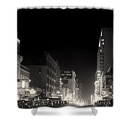 Downtown Dallas 1942 Shower Curtain