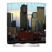 Downtown Denver At Dusk Shower Curtain