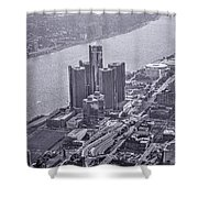 Downtown Detroit Shower Curtain